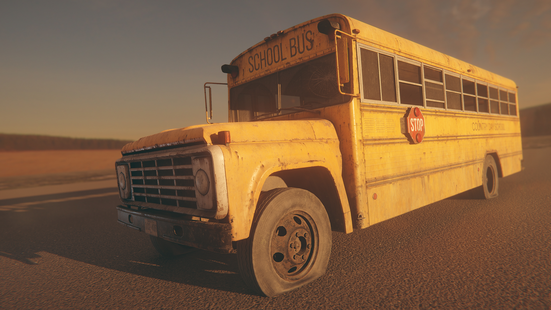 HQ RETRO SCHOOL BUS